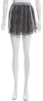Ulla Johnson Silk Printed Mini Skirt