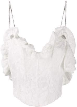 Magda Butrym embellished strap lace camisole