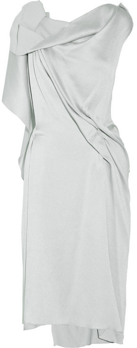 RM by Roland Mouret Drache draped silk-blend dress