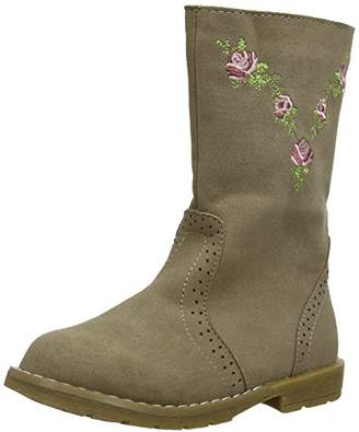 Pumpkin Patch Girls Embroidered Blooms Chelsea Boots W4FW50001, 19 EU