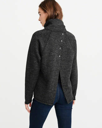 Abercrombie & Fitch Button-Back Sweatshirt