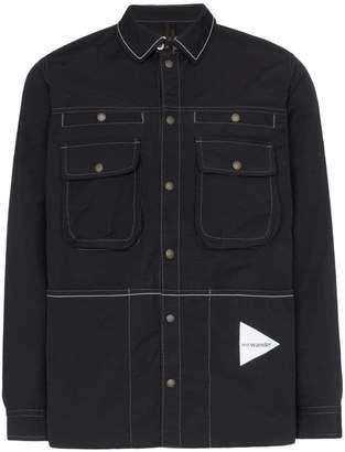 b99732660 And Wander Laser nylon shirt jacket