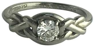 Palladium Solitaire 0.46ct Diamond Engagement Ring Size 7
