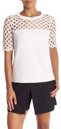 Catherine Malandrino Bilal Cutout Short Sleeve Top