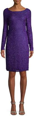 Reem Acra Women's Beaded Silk Cocktail Dress