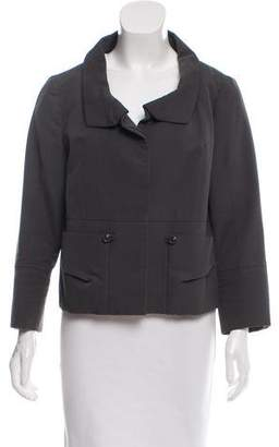 Chloé Silk-Blend Collared Jacket