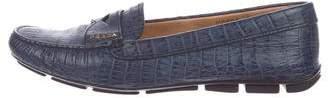 Prada Alligator Loafers