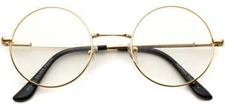clear WearMe Pro Round Metal Frame Glasses (, 49)