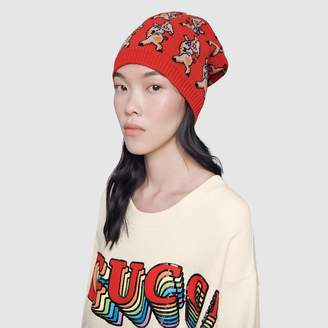 Gucci Piglet wool hat