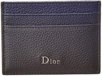 Christian Dior Grained Leather Card Holder