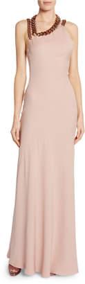 Tom Ford Sleeveless Asymmetric Dress w/ Chain Strap