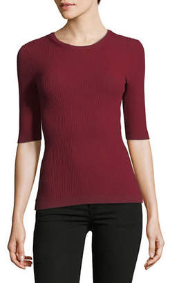 Theory Tech Ribbed Crew Neck Top