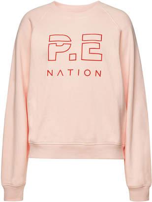 P.E Nation Shuffle Printed Cotton Sweatshirt