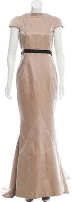 J. Mendel Silk Cap Sleeve Gown
