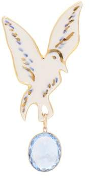 Sonia Boyajian - Angeli Dove Ceramic And Crystal Pin - Womens - Green