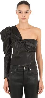 Isabel Marant Noop One Shoulder Leather Top