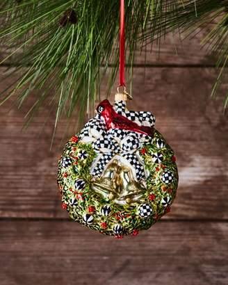 Mackenzie Childs MacKenzie-Childs 2017 Wreath Glass Ornament