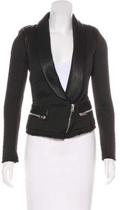 IRO Leather-Trimmed Textured Jacket