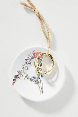 Anthropologie Monogram Ring + Dish Gift Set