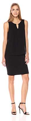 Calvin Klein Women's Sleeveless Pleat Dress with Chain