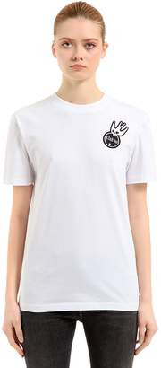 McQ Swallow Embroidered Jersey T-Shirt