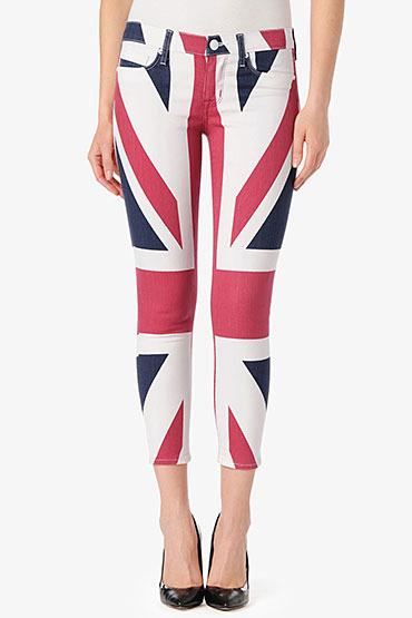 Hudson Jeans Krista Super Skinny Crop- Anarchy