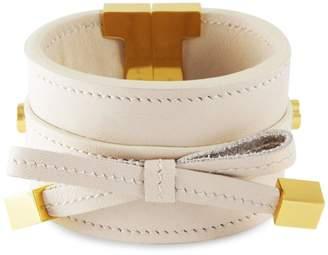 Tissuville - Bow & Cube Almond Latte Bracelet Gold