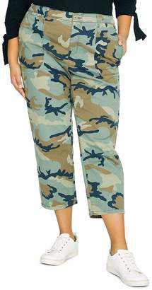 Sanctuary Curve Peace Cropped Camo Pants