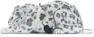 Judith Leiber Couture snow leopard clutch