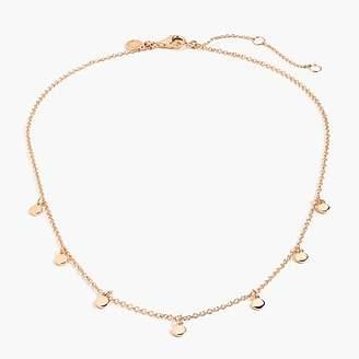 J.Crew Demi-fine 14k gold-plated dot charm necklace