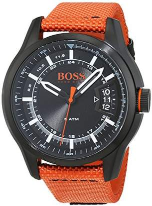 HUGO BOSS Men's 'Hong Kong Sport' Quartz Resin and Nylon Casual Watch