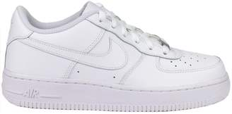 Nike Air Force 1 (GS) White/White/White Basketball Shoe 6 Kids US