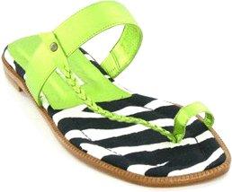 Manolo Blahnik Neon Zebra Flat