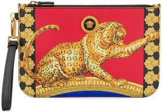 Versace cheetah-print pouch