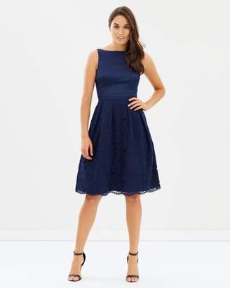 Oasis Darcy Satin Bodice Lace Midi Dress