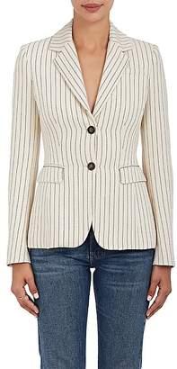 Altuzarra Women's Fenice Pinstriped Two-Button Blazer