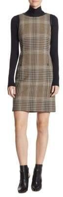 Akris Checked Jersey Stretch Dress