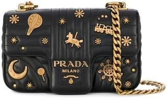 Prada Diagramme studded shoulder bag
