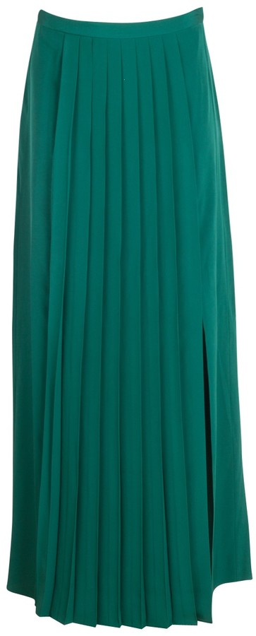 Tibi Basil Pleated Skirt