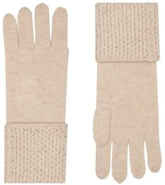 William Sharp Cashmere Embellished Trim Gloves