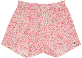 Druthers Pink and White Micro Floral Boxers