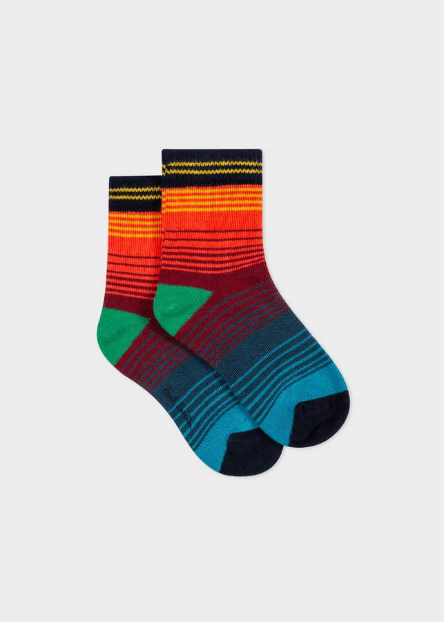 Paul Smith Boys' 2-6 Years Multi-Coloured Stripe Socks