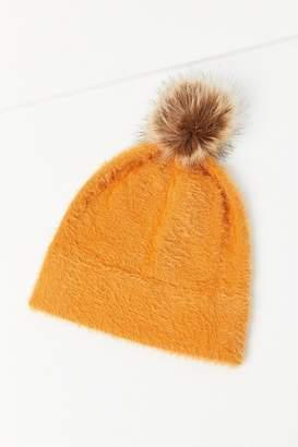 Urban Outfitters Fuzzy Furry Pompom Beanie