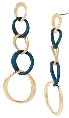 Robert Lee Morris Soho Sculptural Link Earrings