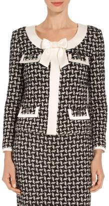 St. John Contrast Shine Dash Knit Jacket