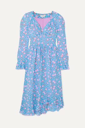 Stine Goya Freesia Ruffled Printed Crepe Midi Dress - Blue