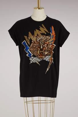 Balmain Embroidered Cotton T-Shirt