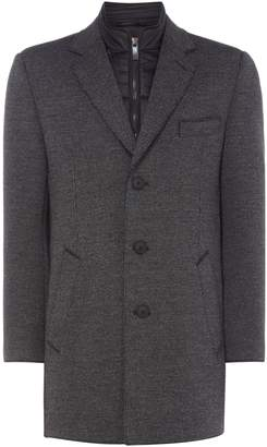 Bugatti Men's Wool Coat With Gilet Insert