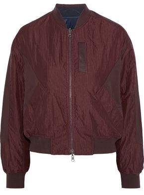 Vince Paneled Crinkled-shell Bomber Jacket