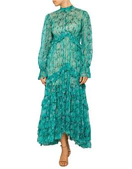 Zimmermann Moncur Gathered Frill Dress